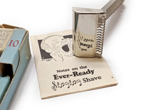 1927 Ever Ready Challenge Outfit – Patent 1924 Razor With Blades and Packaging