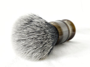 Black-and-White Synthetic Fiber Shaving Brush, 24mm