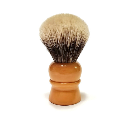 Vintage Catalin Shaving Brush, 2-Band Badger