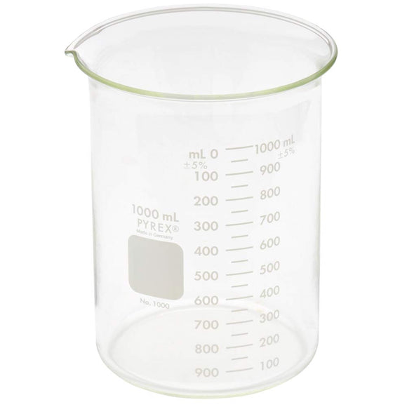 Beakers, 1000ml, Pyrex® Brand, Box of 6
