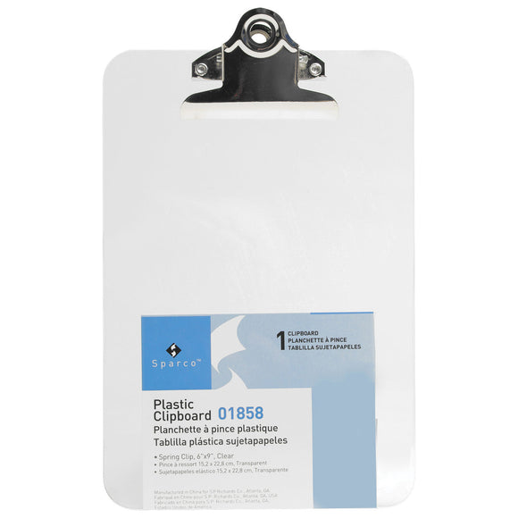 Clear Plastic Clipboard, 6