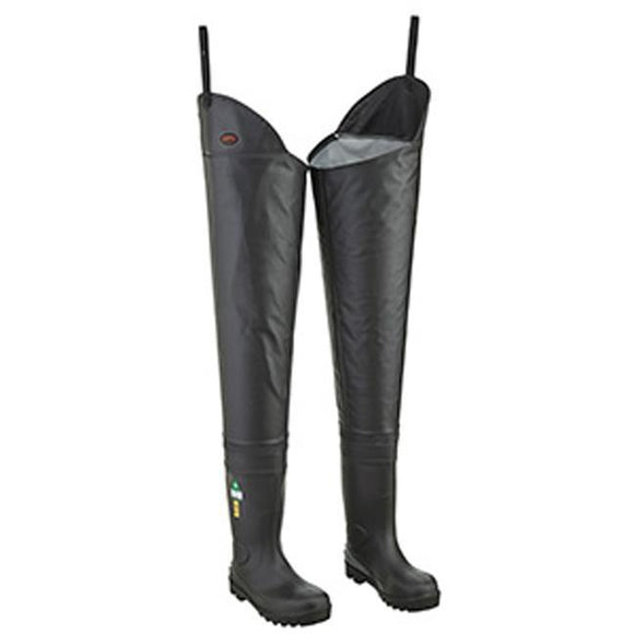 Hip Waders, PVC on Canvas, Steel Toe