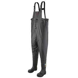 Chest Waders, PVC on Canvas, Steel Toe