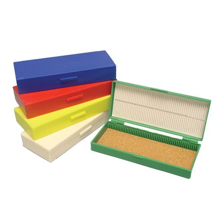 Slide Box, ABS Plastic, 50 Slide Capacity, Hinged