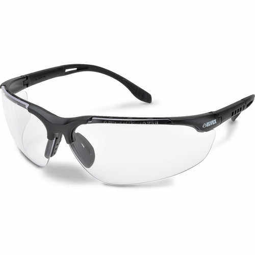 Elvex Sphere-X Ultimate Safety Glasses, Black Frame, Clear Anti-Fog Lens