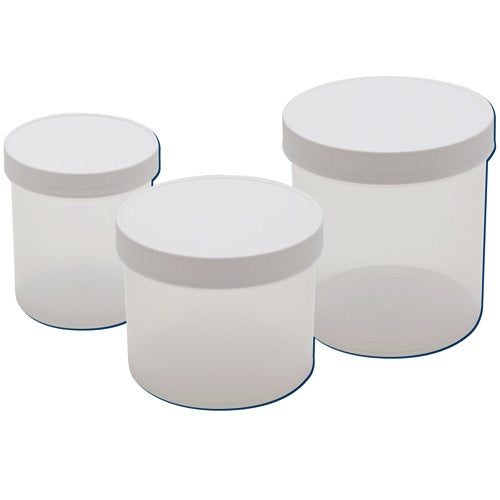 Straight Sided Jars, Polyrpopylene