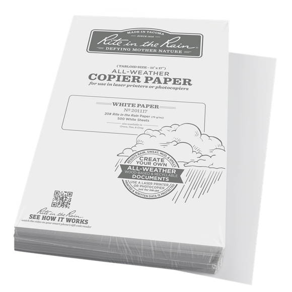 Rite in the Rain, Copier Paper, White, 11