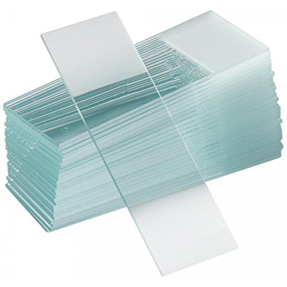Microscope Slides, Frosted One End, Glass, Economy Grade