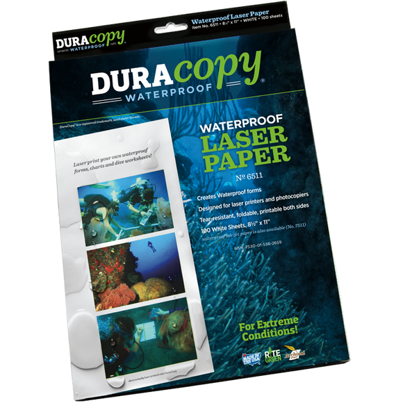 DuraCopy Waterproof Paper, White, #6511