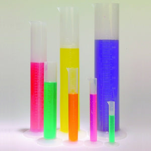 Graduated Cylinders, Set of 7, Polypropylene