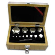 OHAUS 80850114 Stainless Steel Class 6 Calibration Mass Set, 1 g to 500 g