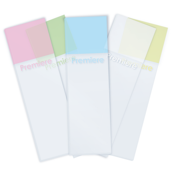 Microscope Slides, Color Frosted One End, Glass