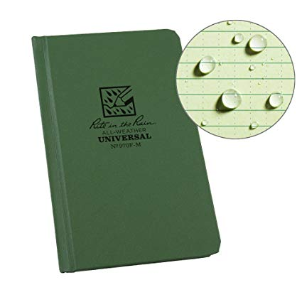 Rite-in-the-Rain - #970F-M Pocket Sized Bound Book, Universal Pattern