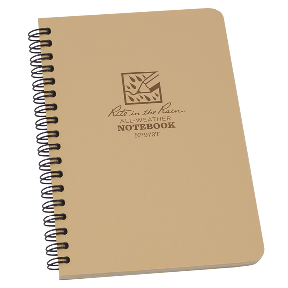 Rite-in-the-Rain - #973T Spiral Notebook, Universal Pattern, Tan
