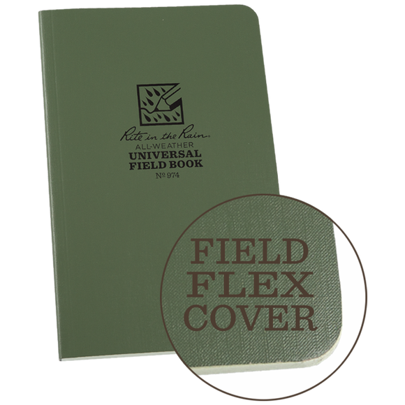 Rite-in-the-Rain - #974 Field-Flex Standard Notebook, Green