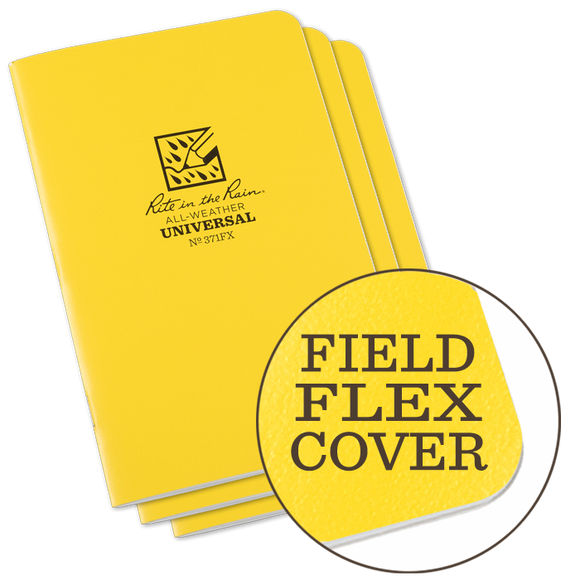 Rite-in-the-Rain - #371FX Notebook, Field Flex, Transit Pattern, Pkg of 3
