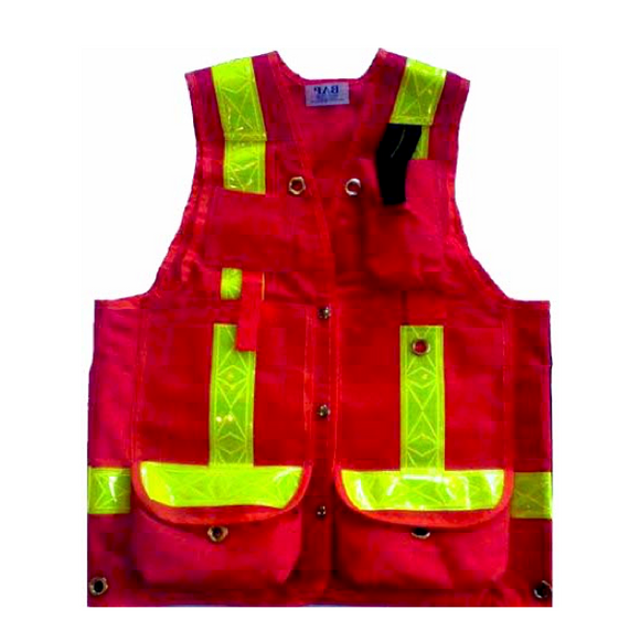 Cruiser Vest, Red, Cordura, w/ Striping