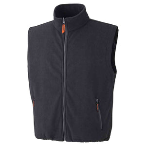 Pioneer Sherpa Fleece Vest, Black, D1150