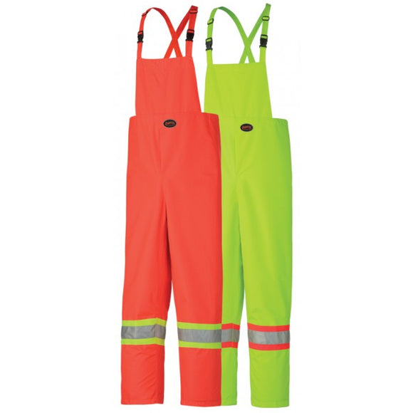 Pioneer Nylon Safety Bib Rain Pants, Orange