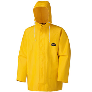 Pioneer PVC/Polyester - Hooded Rain Jacket, Yellow