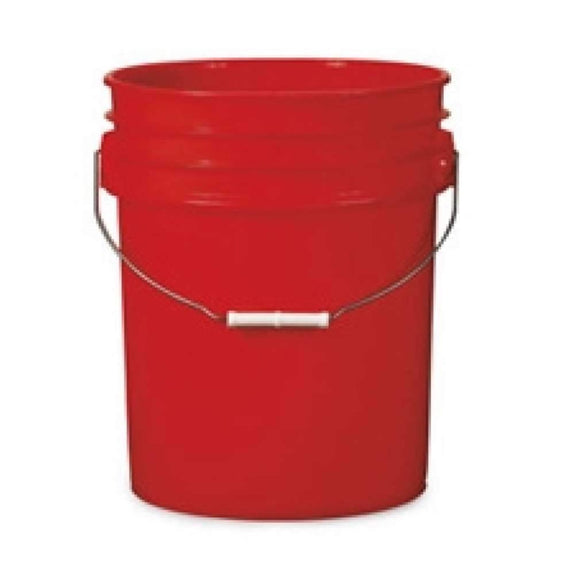 Pail, 5 Gallon, Red HDPE