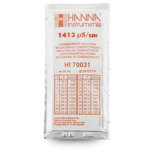 Conductivity Calibration Pouches, 1413 uS/cm, 20 ml