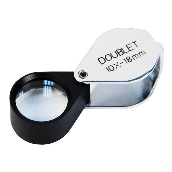 Doublet Glass Lens 10X Loupe, 18 mm