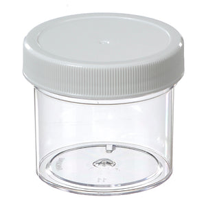 Polystyrene (Clear) Jar, Straight-Sided, 60 ml