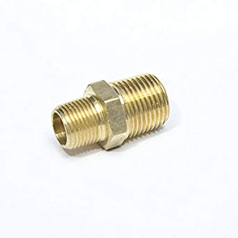 Brass Fitting - Male MNPT Hex Nipple