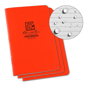 Rite-in-the-Rain - #OR71-FX Notebook, Universal, Orange, Pkg of 3
