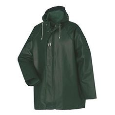 Helly Hansen Heavy-Weight PVC - Hooded Jacket, Green