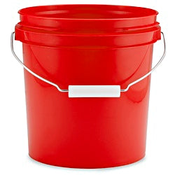 Pail, 4 Litre, Red HDPE