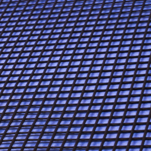 Plastic Netting, Diamond Mesh, Black, 1/8