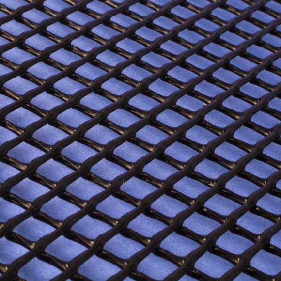 Plastic Netting, Diamond Mesh, Black, 1/4