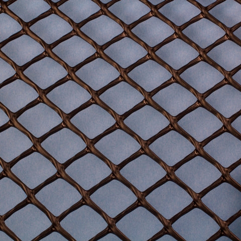 Plastic Netting, Diamond Mesh, Black, 3/4