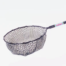 "Rubber-Meshed Landing Net, 19"" Diameter Frame, 26""-46"" Telescoping Handle"