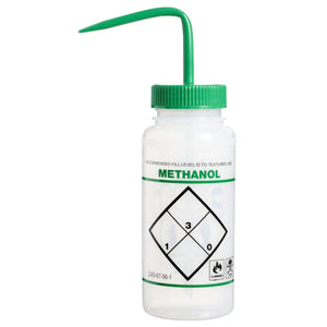 "Wash Bottle, Safety Labeled, ""Methanol"", 500 ml"