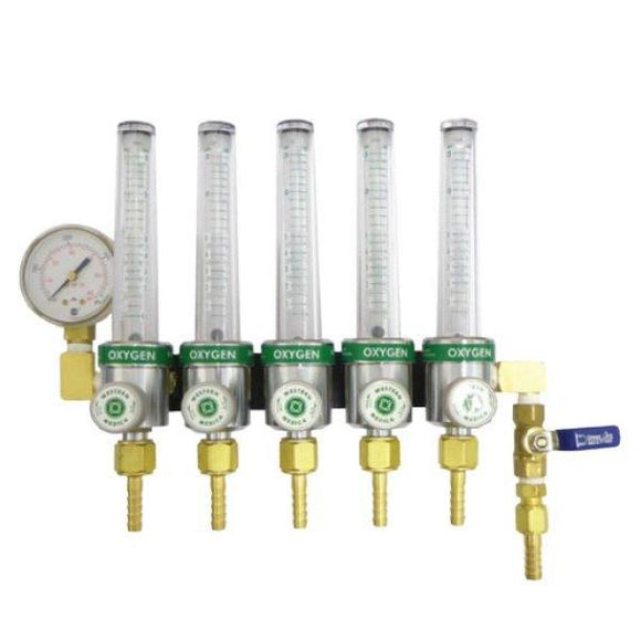 5-Way Oxygen Flow Meter Manifold