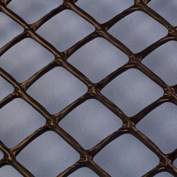 Plastic Netting, Diamond Mesh, Black, 1-1/4