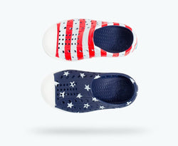 Jefferson Print/Shell White Stars and Stripeprint
