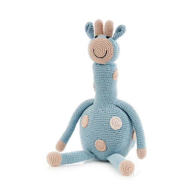 Pebble - Large Organic Egg Blue Giraffe Duck