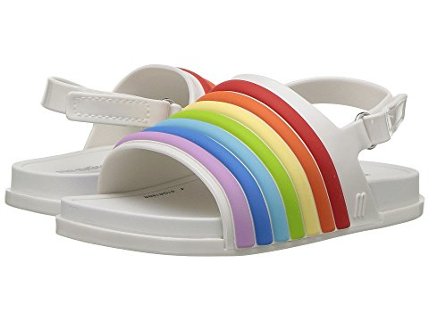 Mini Melissa Mini Beach Slide Sandal Rainbow