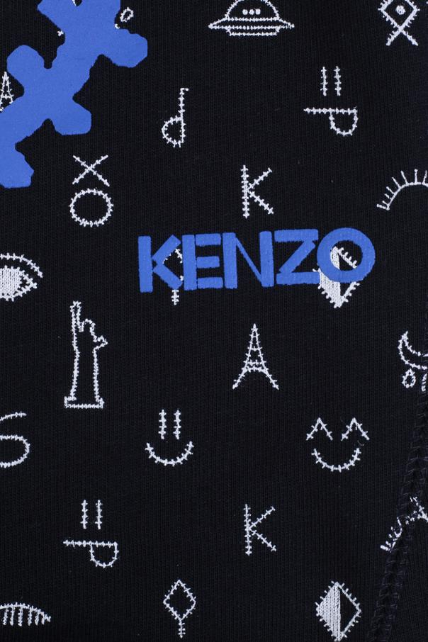 Kenzo Kids Printed Sweatshirt Dress