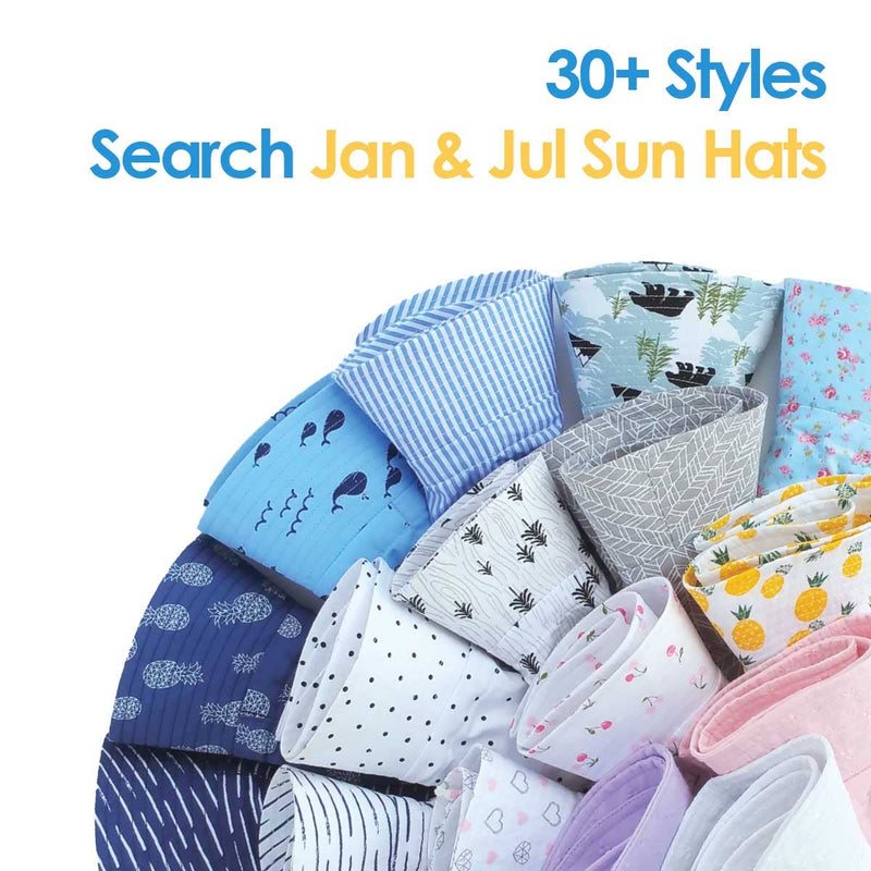 Jan & Jul - Retro Rose | Cotton Floppy Sun Hat