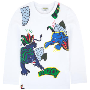 Kenzo Kids T-shirt with a print - Friends & Pop