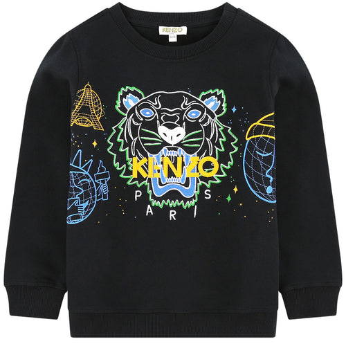 Kenzo Kids Embroidered sweatshirt - Multi Icons