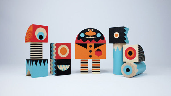 Uncle Goose Stack and Scare Monster Block Set