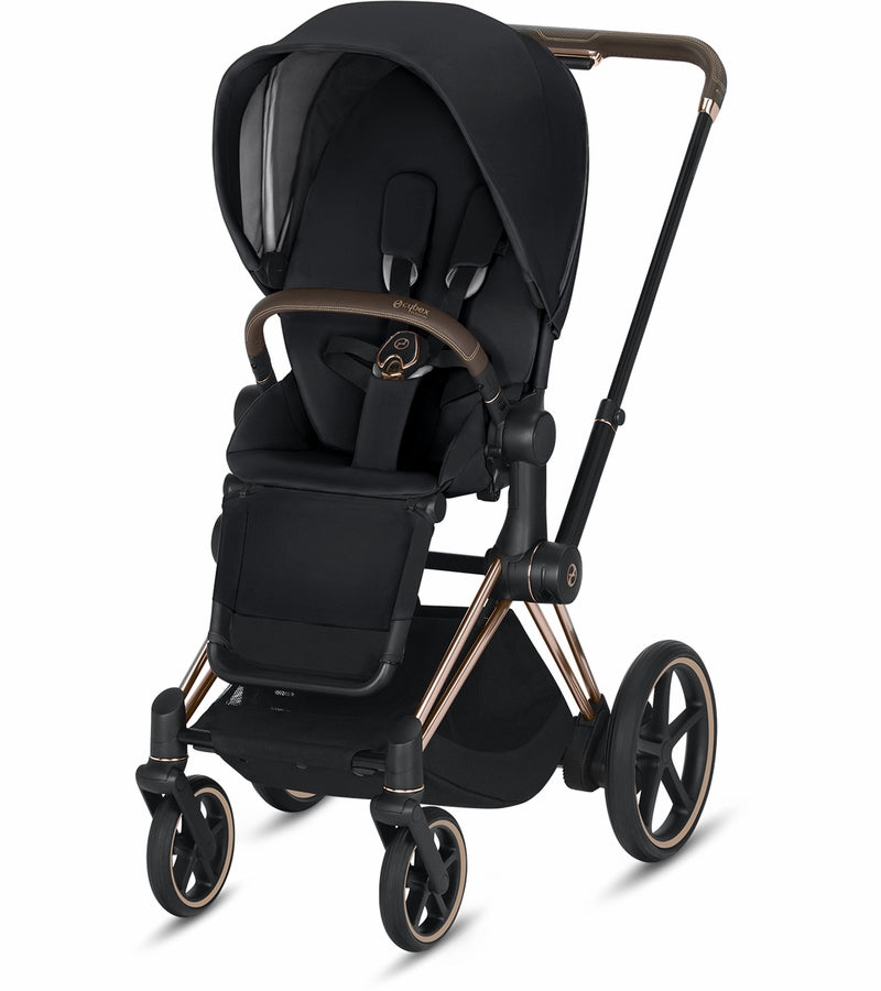 Cybex ePriam Stroller - Rose Gold/Black