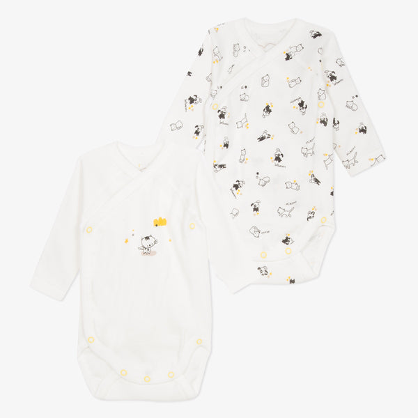 Set of 2 animal printed body suits Raining Cats & Dogs