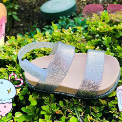 Mini Cosmic Sandals Pink Silver Sparkle